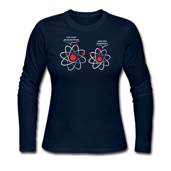 """I've Lost an Electron"" - Women's Long Sleeve T-Shirt navy / S - LabRatGifts - 1"