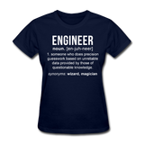 """Engineer"" (white) - Women's T-Shirt navy / S - LabRatGifts - 10"