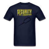 """Security E. Coli Laboratory"" - Men's T-Shirt navy / S - LabRatGifts - 14"