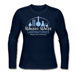 """Walter White Laboratories"" - Women's Long Sleeve T-Shirt navy / S - LabRatGifts - 2"