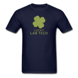 """Lucky Lab Tech"" - Men's T-Shirt navy / S - LabRatGifts - 13"