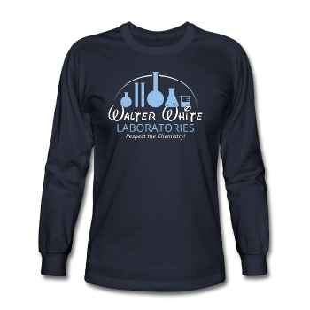 """Walter White Laboratories"" - Men's Long Sleeve T-Shirt navy / S - LabRatGifts - 1"