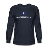 """If You Like Water"" - Men's Long Sleeve T-Shirt navy / S - LabRatGifts - 2"