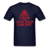 """Keep Calm and Love Your Lab Rat"" (red) - Men's T-Shirt navy / S - LabRatGifts - 12"