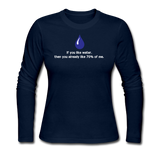 """If you like water"" - Women's Long Sleeve T-Shirt navy / S - LabRatGifts - 3"