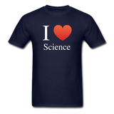 """I ♥ Science"" (white) - Men's T-Shirt navy / S - LabRatGifts - 2"