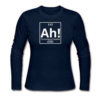 """Ah! The Element of Surprise"" - Women's Long Sleeve T-Shirt navy / S - LabRatGifts - 1"