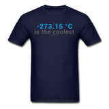 """-273.15 ºC is the Coolest"" (gray) - Men's T-Shirt navy / S - LabRatGifts - 14"