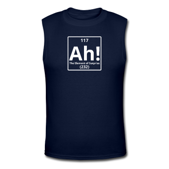 """Ah! The Elements of Surprise"" - Men's Muscle T-Shirt navy / S - LabRatGifts - 1"