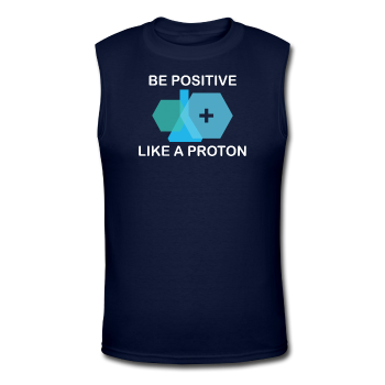 """Be Positive"" (white) - Men's Muscle T-Shirt navy / S - LabRatGifts - 1"