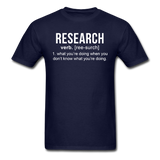 """Research"" (white) - Men's T-Shirt navy / S - LabRatGifts - 2"
