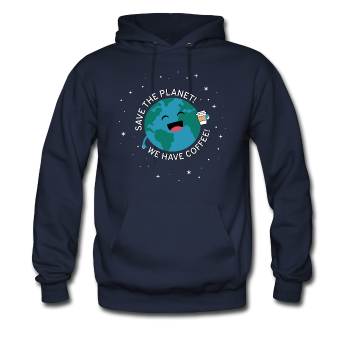 """Save the Planet"" - Men's Sweatshirt navy / S - LabRatGifts - 1"