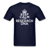 """Keep Calm and Research DNA"" (white) - Men's T-Shirt navy / S - LabRatGifts - 8"
