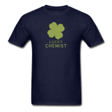 """Lucky Chemist"" - Men's T-Shirt navy / S - LabRatGifts - 14"
