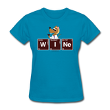 """Wine Periodic Table"" - Women's T-Shirt turquoise / S - LabRatGifts - 4"