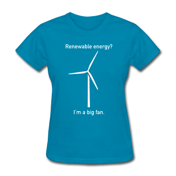 """I'm a Big Fan"" - Women's T-Shirt turquoise / S - LabRatGifts - 1"