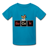 """Bacon Periodic Table"" - Kids T-Shirt turquoise / XS - LabRatGifts - 2"