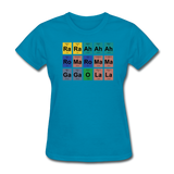 """Lady Gaga Periodic Table"" - Women's T-Shirt turquoise / S - LabRatGifts - 6"