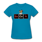 """Bacon Periodic Table"" - Women's T-Shirt turquoise / S - LabRatGifts - 5"