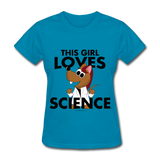 """This Girl Loves Science"" (red) - Women's T-Shirt turquoise / S - LabRatGifts - 7"