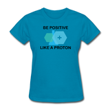 """Be Positive"" (black) - Women's T-Shirt turquoise / S - LabRatGifts - 5"