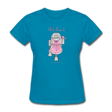"""R2-Tea-2"" - Women's T-Shirt turquoise / S - LabRatGifts - 5"