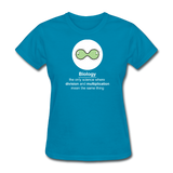 """Biology Division"" - Women's T-Shirt turquoise / S - LabRatGifts - 6"