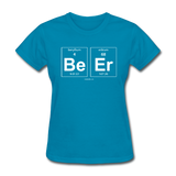 """BeEr"" - Women's T-Shirt turquoise / S - LabRatGifts - 7"