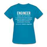 """Engineer"" (white) - Women's T-Shirt turquoise / S - LabRatGifts - 2"