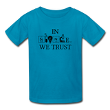"""In Science We Trust"" (black) - Kids' T-Shirt turquoise / XS - LabRatGifts - 5"