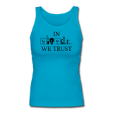 """In Science We Trust"" (black) - Women's Tank Top turquoise / S - LabRatGifts - 4"