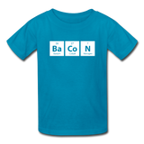 """BaCoN"" - Kids' T-Shirt turquoise / XS - LabRatGifts - 3"