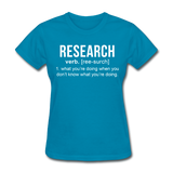 """Research"" (white) - Women's T-Shirt turquoise / S - LabRatGifts - 2"