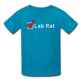 """Lab Rat, Check"" - Kids' T-Shirt turquoise / XS - LabRatGifts - 3"