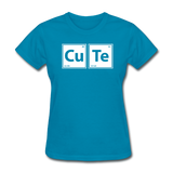 """CuTe"" - Women's T-Shirt turquoise / S - LabRatGifts - 5"