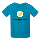 """Faster than 186,282 MPS"" - Kids' T-Shirt turquoise / XS - LabRatGifts - 2"
