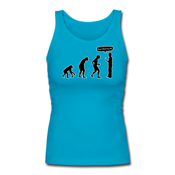 """Stop Following Me"" - Women's Tank Top turquoise / S - LabRatGifts - 1"