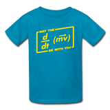 """May the Force Be With You"" - Kids' T-Shirt turquoise / XS - LabRatGifts - 3"