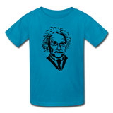 """Albert Einstein"" - Kids' T-Shirt turquoise / XS - LabRatGifts - 5"