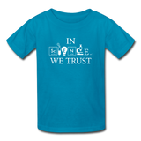 """In Science We Trust"" (white) - Kids' T-Shirt turquoise / XS - LabRatGifts - 3"