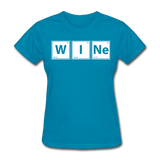 """WINe"" - Women's T-Shirt turquoise / S - LabRatGifts - 5"