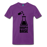 """Drop the Base"" (black) - Men's T-Shirt purple / S - LabRatGifts - 4"