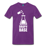 """Drop the Base"" (white) - Men's T-Shirt purple / S - LabRatGifts - 4"
