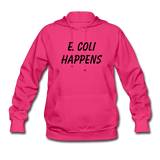 """E. Coli Happens"" (black) - Women's Sweatshirt fuchsia / S - LabRatGifts - 1"