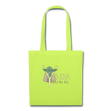 """Yo-Da One for Me"" - Tote Bag lime green / One size - LabRatGifts - 3"