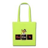 """BaCoN Periodic Table"" - Tote Bag lime green / One size - LabRatGifts - 3"