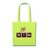 """WINe Periodic Table"" - Tote Bag lime green / One size - LabRatGifts - 3"