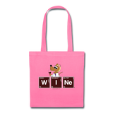 """WINe Periodic Table"" - Tote Bag pink / One size - LabRatGifts - 4"