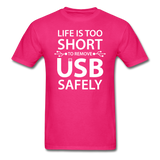 """Life is too Short"" (white) - Men's T-Shirt fuchsia / S - LabRatGifts - 10"