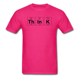 """ThInK"" (black) - Men's T-Shirt fuchsia / S - LabRatGifts - 5"